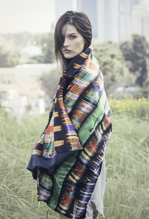 beautiful silk scarves with a dimension of adventure