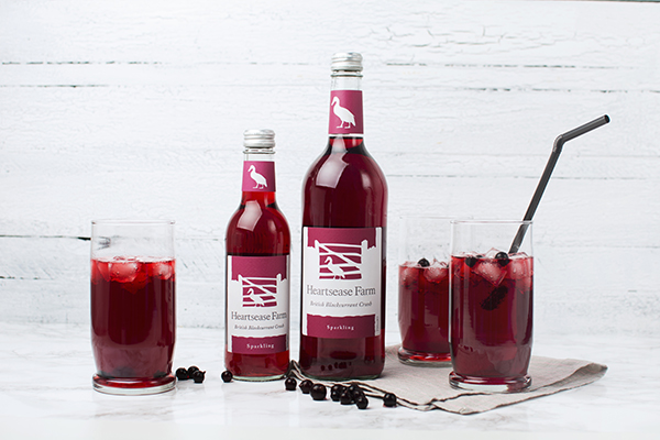 Heartsease Farm premium sparkling Blackcurrant Crush