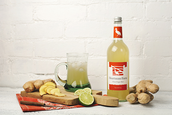 Heartsease Farm premium sparkling fiery ginger beer