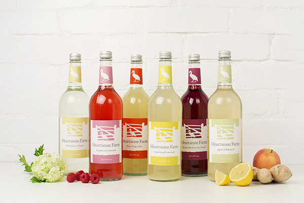 Heartsease Farm premium sparkling pressé drinks range