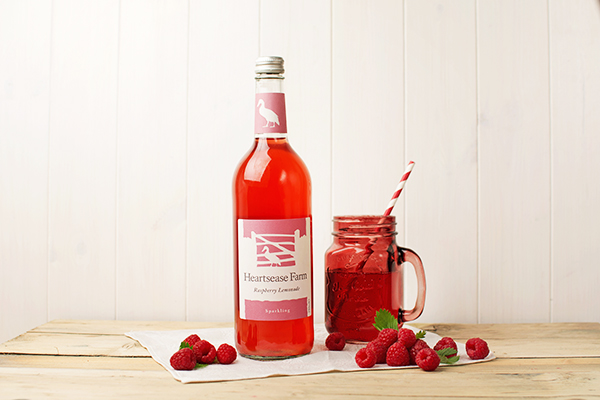 Heartsease Farm premium sparkling Raspberry Lemonade